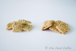 sea salt and rosemary crackers 1