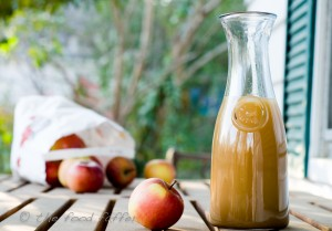 Unsweetened hot apple cider